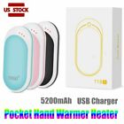 Rechargeable Hand Warmer 5200mAh USB Heater Power Bank Electric Pocket Warmers