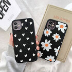 For iPhone 12 11 Pro Max XS X XR 8 7 Cute Matte Silicone Black Back Case Cover