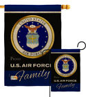 Air Force Proudly Family Burlap Garden Flag Armed Forces Gift Yard House Banner