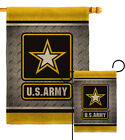 US Army Steel Burlap Garden Flag Armed Forces Small Gift Yard House Banner