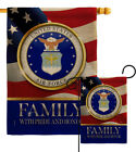 US Air Force Family Honor Burlap Garden Flag Armed Forces Gift Yard House Banner