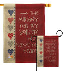 My Soldier Burlap Garden Flag Service Armed Forces Small Gift Yard House Banner
