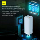 Baseus 65W GaN USB Type C Wall Charger US Plug QC3.0 PD2.0 Charge Adapter Y3H1