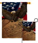 We the People Burlap Garden Flag Service Armed Forces Gift Yard House Banner