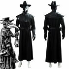 Plague Doctor Steampunk Cosplay Brird Mask Cape Long Gown Hat Adult Kid Costume