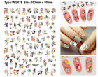 Woman with Flower Head Flowers Fall Leaf Floral Just Love 3D Nail Sticker