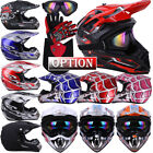 DOT Motocross Helmet Dirt Bike Offroad MX ATV Snowmobile BMX UTV /Goggles Gloves