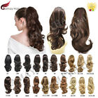 Thick Jaw Claw Clip In Ponytail Curly Wavy Hair Extensions Natural As Human Hair
