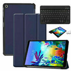 """For LG G Pad 5 10.1"""" FHD 2019 Folio Leather Stand Smart Cover Wireless Keyboard"""