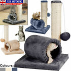 Cat Kitten Pet Scratching Post Sisal Play Activity Tree Plush Tunnel Mouse Ball