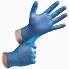 Advance Gloves Blue Vinyl Gloves Powder Free Size Small/Medium/Large/XL 100 Box