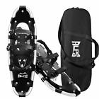 ALPS Snowshoes Black 22/25/27/30in with Carrying Bags for Outdoor Activities