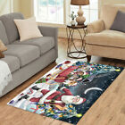 Personalized Christmas Santa Sled Rough Collie Dogs Living Room Area Rugs Mats