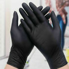 Black Powder Latex 2.0mil Gloves Nitrile Piercing Tattoo Small Medium 20 60 100