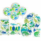 Dinosaur Blue and Green Disposable Plates Napkins Tablecloth Party