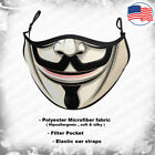 Guy Fawkes 3D face mask-Kids & Adults size-V,Anonymous,Hacker-Reusable& Washable