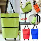 Foldable Shopping Trolley Bag with Wheels Food Organizer Vegetables Bag