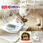 Food Bowl With Stand White Elevated Cat Dog Water Bowl Detachable Pet Feeding UK