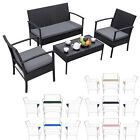 3pc Replacement Cushions Set To Fit Rattan Garden Furniture Chairs Sofa Patio