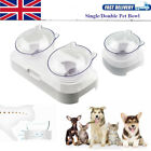 Double Pet Bowl Dog Cat Twin Dish Adjustable Water Food Feeder Raised Station