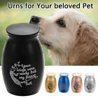 Mini Metal Cremation Urns For Pet Dog Memorial Ashes Storage Box Pet Supplies