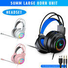 Gaming Headset LED Headphones Stereo Bass Surround for PS4/PC/Xbox One 3.5mm