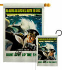 Don't Slow Up Garden Flag Service Armed Forces Decorative Gift Yard House Banner
