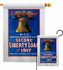 Second Liberty Loan Garden Flag Service Armed Forces Decorative House Banner