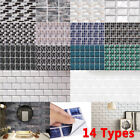 Mosaic Tile Wall Stickers Self-adhesive Home Stick On Kitchen Bathroom Decor New