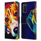 OFFICIAL DAWGART DOGS 2 LEATHER BOOK WALLET CASE COVER FOR SAMSUNG PHONES 1