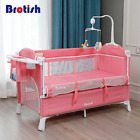 Multifunctional Baby Crib Foldable Baby Bed With Diaper Table Cradle Rocker Kid