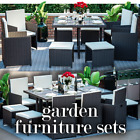 Rattan Garden Furniture 8 10 Seater Outdoor Dining Table Chairs Cube Patio Set