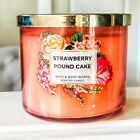 BATH & BODY WORKS 3 WICK CANDLE GLASS JAR 14.5 oz WITH LID FREE SHIPPING NEW