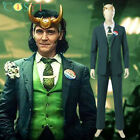 Loki Season 1 Loki Cosplay Costume Full Set with Helmet Halloween