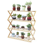 4/5 Tiers Bamboo Plant Stand Holder Free Standing Stackable Plant Organizer Rack