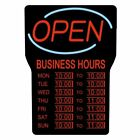 ROYAL SOVEREIGN INTERNATIONAL RSB-1342E LED OPEN SIGN W/ BUSINESS HOURS