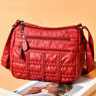 Women's Leather Messenger Bag Crossbody Shoulder Daily Travel Mid Size Casual