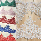 1 Yard Embroidered Lace Trim For Wedding Veil Dress Gown DIY Sew Lace Applique