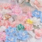 Beautiful 3D Flowers with Beaded Lace Applique Dress Gown Decor DIY Sew Patch