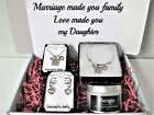 Marriage made you family Love made you my Daughter Gift Box, Jewelry Gift Set