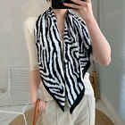 "Imitate Twill Silk Scarf Women Fashion Zebra Pattern Print Shawl Hijab 35"" 35"""