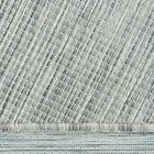 Grey Patio Summer Rug Washable Pet Friendly Non Shed Versatile Outdoor Mat Large