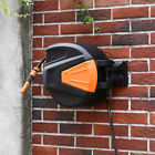 Garden Auto Retractable Wall Mounted Water Hose Reels Watering Spray w/ Fittings