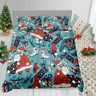Merry Christmas Bedding Set New Year Winter Duvet Cover King Size Holiday Gifts