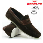MENS RED TAPE LEATHER SLIP ON CASUAL BOAT DECK MOCASSIN LOAFER DRIVING SHOE SIZE