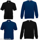3 FRUIT OF THE LOOM SWEATSHIRT JUMPERS S-XXL +FREE POLO