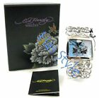 Ed Hardy LYNX geisha DRAGON Hearts Bluebird Watch NEW