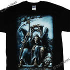 GRIM REAPER WINGS THRONE BONES GOTHIC NEW BLACK T-SHIRT