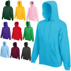 FRUIT OF THE LOOM HOODED TOP HOODIE  21 COLOURS S - XXL