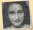 ANNE FRANK #2 PRINT POSTER SIZE HOLOCAUST MEMORY